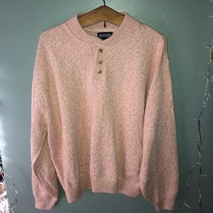 Land's End Pullover 3/4 button sweater (Men's)